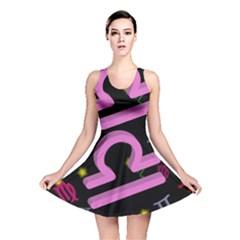 Libra Floating Zodiac Sign Reversible Skater Dresses