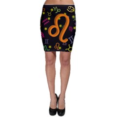 Leo Floating Zodiac Sign Bodycon Skirts