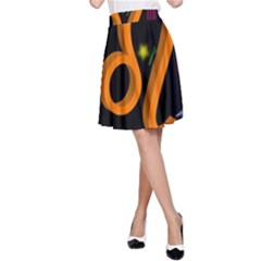 Leo Floating Zodiac Sign A-Line Skirts