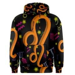 Leo Floating Zodiac Sign Men s Pullover Hoodies