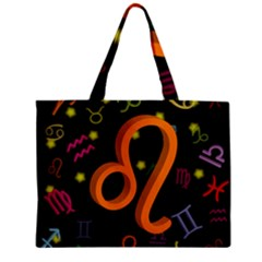 Leo Floating Zodiac Sign Zipper Tiny Tote Bags