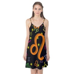 Leo Floating Zodiac Sign Camis Nightgown