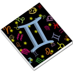 Gemini Floating Zodiac Sign Small Memo Pads