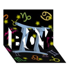 Gemini Floating Zodiac Sign BOY 3D Greeting Card (7x5)