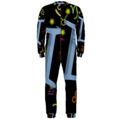 Gemini Floating Zodiac Sign OnePiece Jumpsuit (Men)