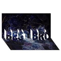Space Like No.3 BEST BRO 3D Greeting Card (8x4)