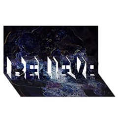 Space Like No.3 BELIEVE 3D Greeting Card (8x4)