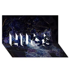 Space Like No.3 HUGS 3D Greeting Card (8x4)