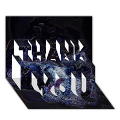 Space Like No.3 THANK YOU 3D Greeting Card (7x5)