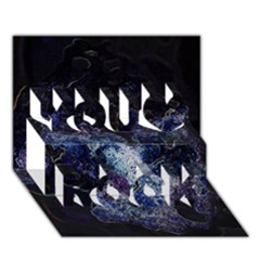Space Like No 3 You Rock 3d Greeting Card (7x5)