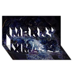 Space Like No.3 Merry Xmas 3D Greeting Card (8x4)