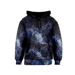 Space Like No.3 Kids Zipper Hoodies