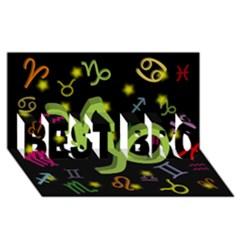 Capricorn Floating Zodiac Sign Best Bro 3d Greeting Card (8x4)