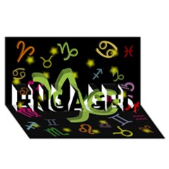 Capricorn Floating Zodiac Sign ENGAGED 3D Greeting Card (8x4)