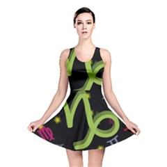 Capricorn Floating Zodiac Sign Reversible Skater Dresses