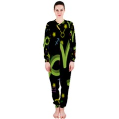 Capricorn Floating Zodiac Sign OnePiece Jumpsuit (Ladies)
