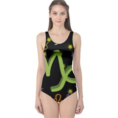 Capricorn Floating Zodiac Sign Women s One Piece Swimsuits