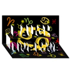 Cancer Floating Zodiac Sign Laugh Live Love 3d Greeting Card (8x4)