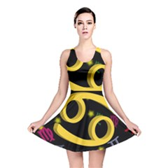 Cancer Floating Zodiac Sign Reversible Skater Dresses