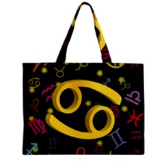 Cancer Floating Zodiac Sign Zipper Tiny Tote Bags