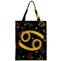 Cancer Floating Zodiac Sign Zipper Classic Tote Bags