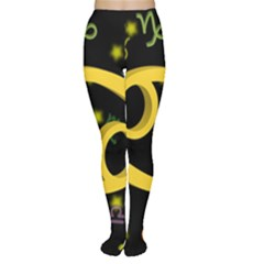 Cancer Floating Zodiac Sign Women s Tights