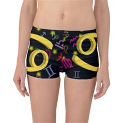Cancer Floating Zodiac Sign Boyleg Bikini Bottoms