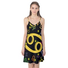 Cancer Floating Zodiac Sign Camis Nightgown