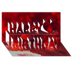 Space Like No 4 Happy Birthday 3d Greeting Card (8x4)