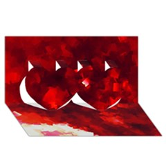 Space Like No.4 Twin Hearts 3D Greeting Card (8x4)