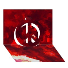 Space Like No.4 Peace Sign 3D Greeting Card (7x5)