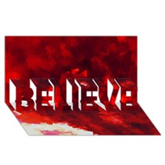 Space Like No 4 Believe 3d Greeting Card (8x4)