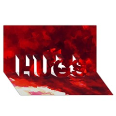 Space Like No 4 Hugs 3d Greeting Card (8x4)