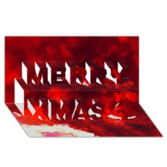 Space Like No 4 Merry Xmas 3d Greeting Card (8x4)