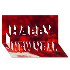 Space Like No 4 Happy New Year 3d Greeting Card (8x4)