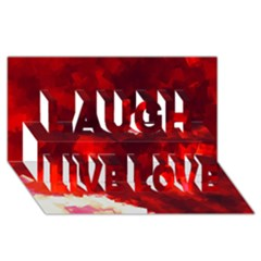 Space Like No.4 Laugh Live Love 3D Greeting Card (8x4)