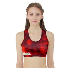 Space Like No.4 Women s Sports Bra with Border