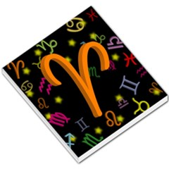 Aries Floating Zodiac Sign Small Memo Pads