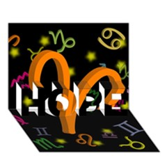 Aries Floating Zodiac Sign HOPE 3D Greeting Card (7x5)