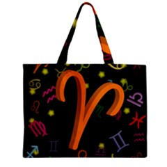 Aries Floating Zodiac Sign Zipper Tiny Tote Bags