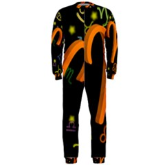 Aries Floating Zodiac Sign Onepiece Jumpsuit (men)