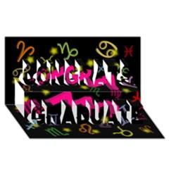 Aquarius Floating Zodiac Sign Congrats Graduate 3D Greeting Card (8x4)