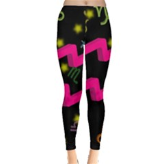 Aquarius Floating Zodiac Sign Women s Leggings