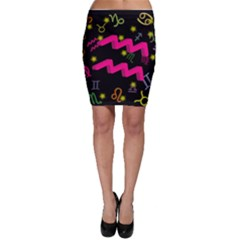 Aquarius Floating Zodiac Sign Bodycon Skirts