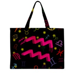 Aquarius Floating Zodiac Sign Zipper Tiny Tote Bags
