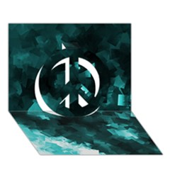 Space Like No 5 Peace Sign 3d Greeting Card (7x5)