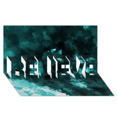 Space Like No 5 Believe 3d Greeting Card (8x4)