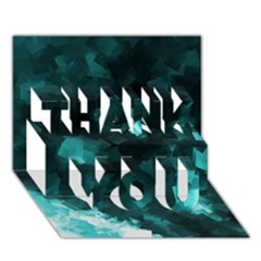 Space Like No 5 Thank You 3d Greeting Card (7x5)