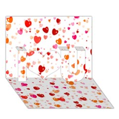Heart 2014 0603 I Love You 3d Greeting Card (7x5)