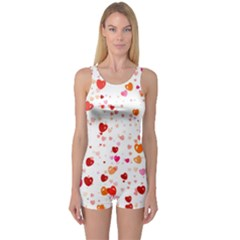 Heart 2014 0603 Women s Boyleg One Piece Swimsuits